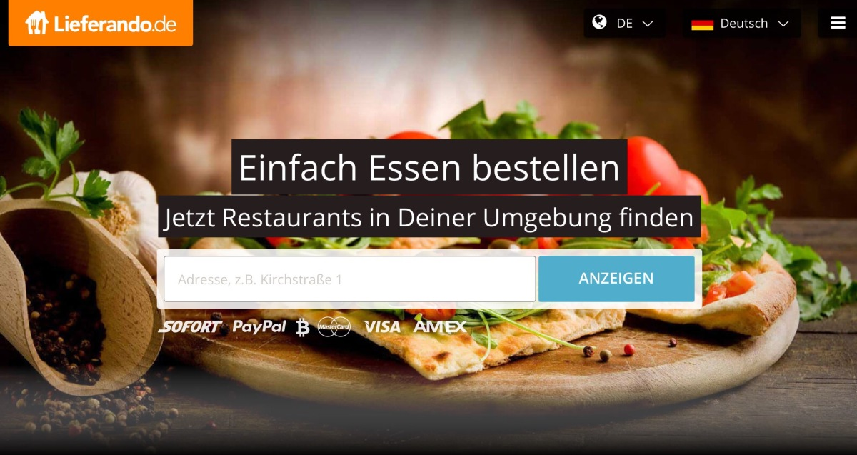 Germany's leading food delivery service now accepts Bitcoin